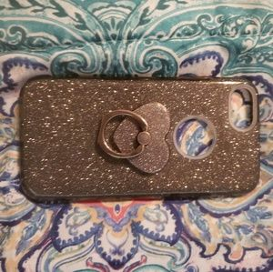Accessories - Iphone 6 sparkly grey phone case